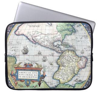 Mapa del nuevo mundo 1570 de Américas Mangas Portátiles
