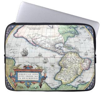 Mapa del nuevo mundo 1570 de Américas Manga Portátil