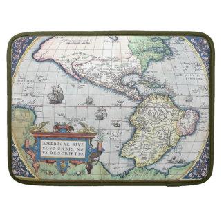 Mapa del nuevo mundo 1570 de Américas Fundas Macbook Pro