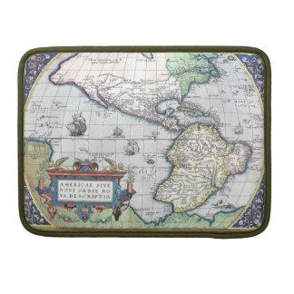 Mapa del nuevo mundo 1570 de Américas Funda Para Macbook Pro