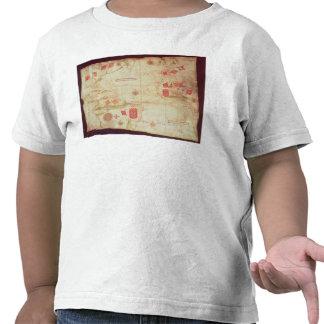 Mapa del Océano Atlántico, c.1550 Camisetas
