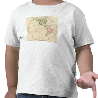 Mapa del oeste del hemisferio camiseta
