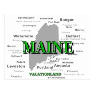 Mapa del orgullo del estado de ciudades y de los p tarjeta postal