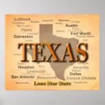 Mapa del orgullo del estado de ciudades y de los póster