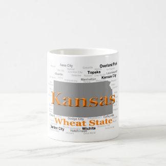 Mapa del orgullo del estado de Kansas Taza De Café