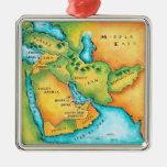 Mapa del Oriente Medio Adorno Para Reyes