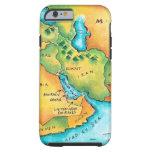 Mapa del Oriente Medio Funda De iPhone 6 Tough