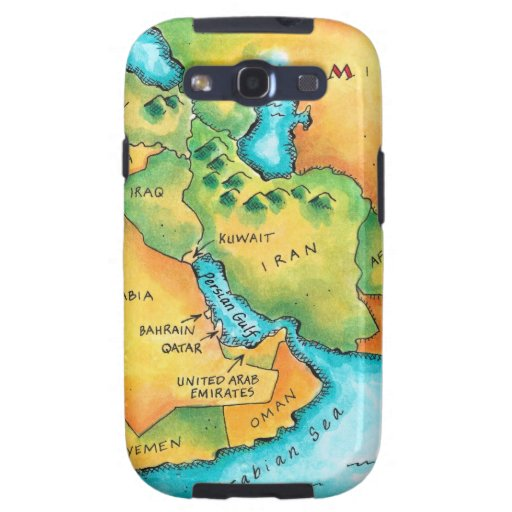 Mapa del Oriente Medio Galaxy SIII Fundas