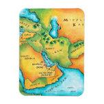Mapa del Oriente Medio Imán De Vinilo