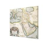 Mapa del Oriente Medio Impresion En Lona
