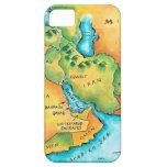 Mapa del Oriente Medio iPhone 5 Fundas