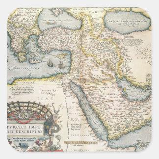 Mapa del Oriente Medio Pegatina Cuadrada