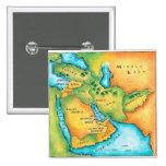 Mapa del Oriente Medio Pin Cuadrado