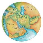 Mapa del Oriente Medio Platos Para Fiestas
