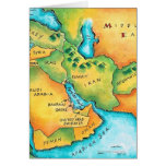 Mapa del Oriente Medio Tarjeta