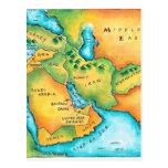 Mapa del Oriente Medio Tarjeta Postal