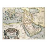 Mapa del Oriente Medio Tarjetas Postales