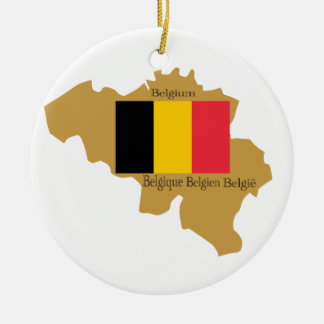 Mapa del ornamento de Bélgica Ornaments Para Arbol De Navidad