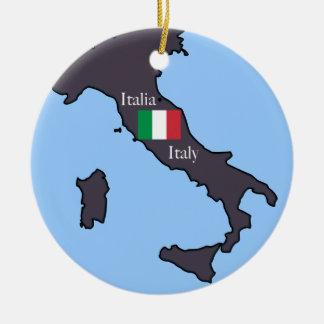 Mapa del ornamento de Italia Ornato