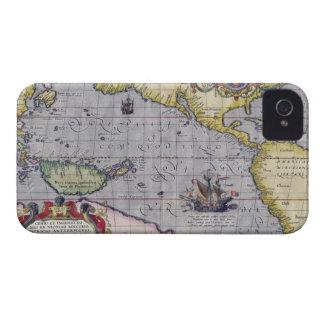 Mapa del Pacífico iPhone 4 Case-Mate Cobertura