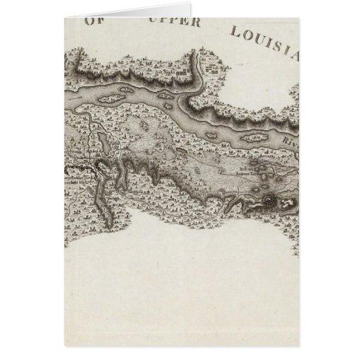 Mapa del país de la Illinois Tarjeta De Felicitación