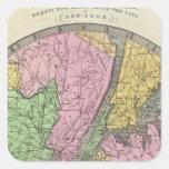 Mapa del país pegatina cuadrada