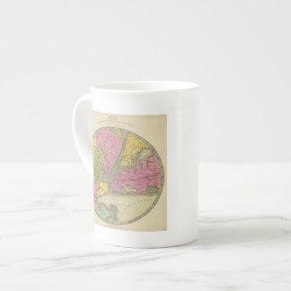 Mapa del país taza de porcelana