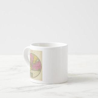 Mapa del país taza espresso