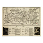 Mapa del parque nacional de Great Smoky Mountains Impresiones