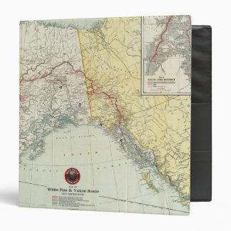 Mapa del paso y ruta y conexiones blancos del Yukó
