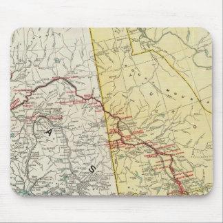 Mapa del paso y ruta y conexiones blancos del Yukó Tapete De Raton