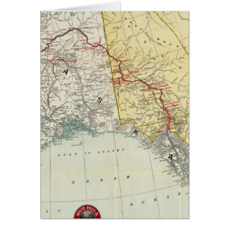 Mapa del paso y ruta y conexiones blancos del Yukó Felicitaciones