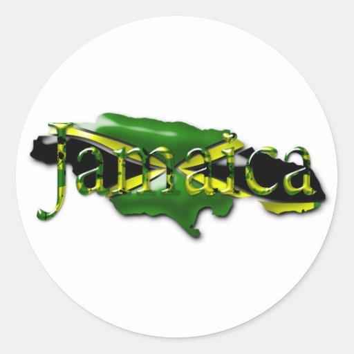 Mapa del pegatina de Jamaica