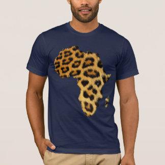 Mapa del Piel-efecto del leopardo de la camiseta