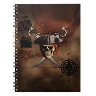 Mapa del pirata cuaderno