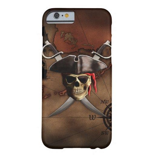 Mapa del pirata funda de iPhone 6 barely there