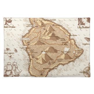 Mapa del pirata mantel individual