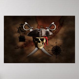 Mapa del pirata poster
