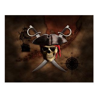 Mapa del pirata postales