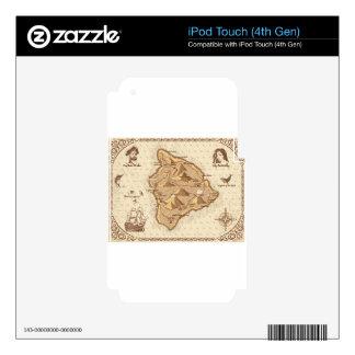 Mapa del pirata skins para iPod touch 4G
