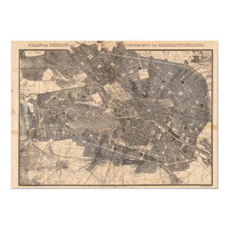 """Mapa del plan de desarrollo de Berlín Alemania en Invitación 5"""" X 7"""""""