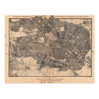 Mapa del plan de desarrollo de Berlín Alemania en Tarjetas Postales