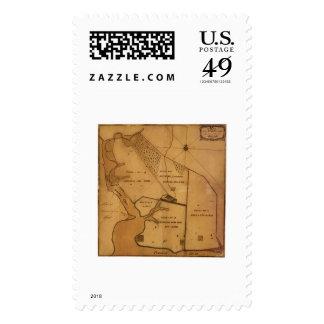Mapa del plan de la granja de George Washington - Franqueo