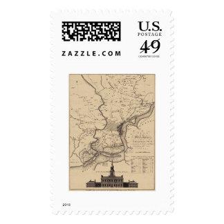 Mapa del plan de Philadelphia - 1777 Sello