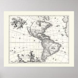 Mapa del poster 1669 de Américas