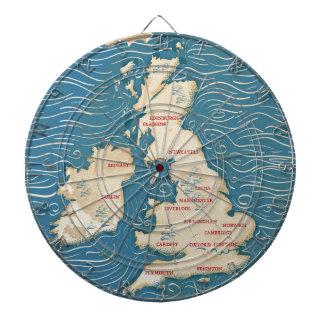 Mapa del poster del vintage de Reino Unido