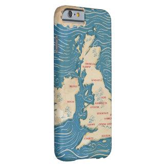 Mapa del poster del vintage de Reino Unido Funda Para iPhone 6 Barely There