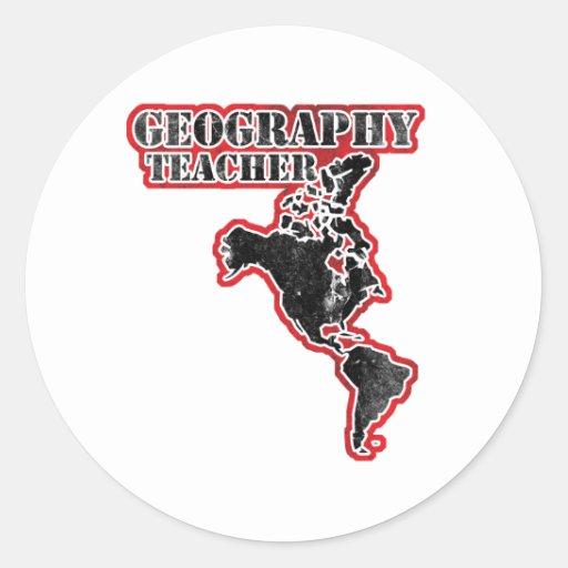 Mapa del profesor de la geografía etiquetas