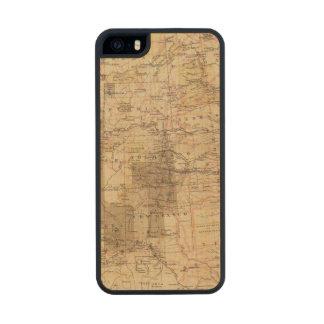 Mapa del progreso 1878 de las encuestas sobre funda de madera para iPhone SE/5/5s