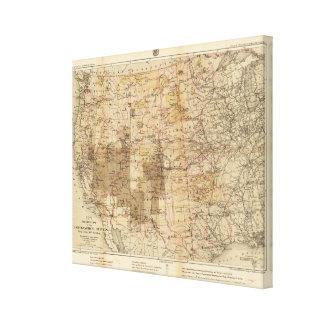 Mapa del progreso 1878 de las encuestas sobre geog lona estirada galerías